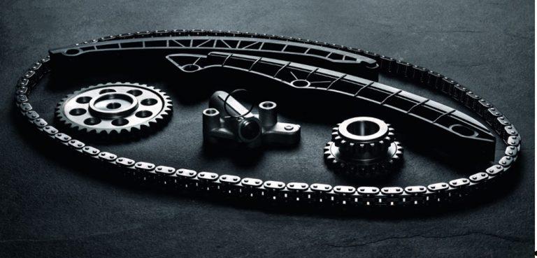 Kompletny łańcuchowy zestaw rozrządu od HEPU Germany.
